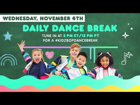 🔴 KIDZ BOP Daily Dance Break [Wednesday, November 4th]