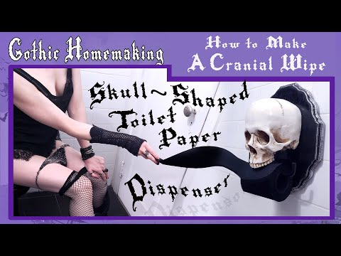 How to Make a Cranial Wipe - Skull-Shaped Toilet Paper Dispenser