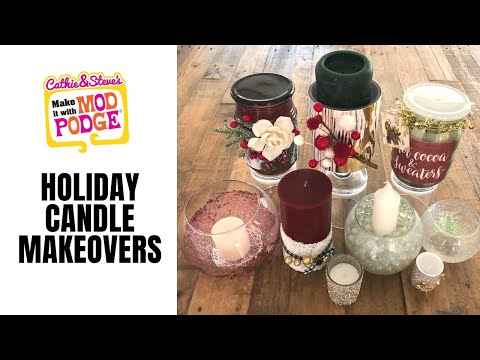 8 Holiday Candle Makeovers