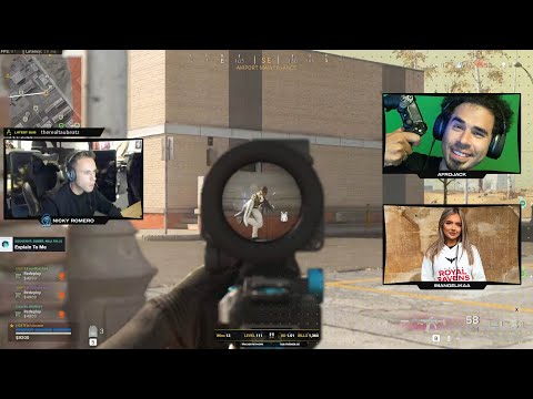 WARZONE withAfrojack and pro player IMAngelikaa! (Call of Duty)