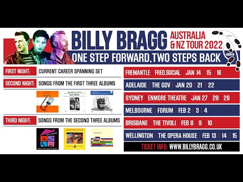 Billy Bragg | One Step Forward, Two Steps Back | NZ & AU 2022 - Re-Scheduled Dates
