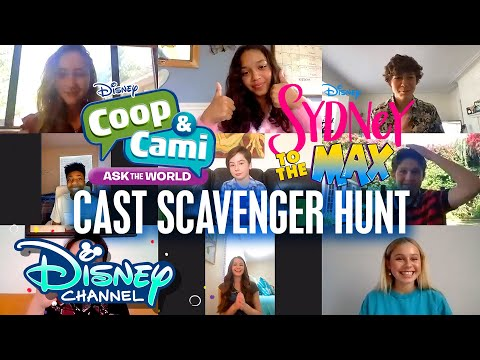Sydney to the Max and Coop & Cami Ask the World 🎉 | Virtual Scavenger Hunts | Disney Channel