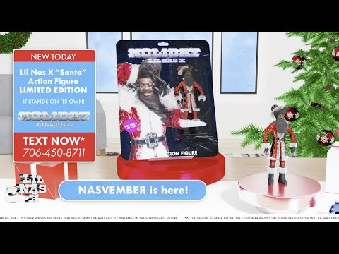 Lil Nas X Santa Toy Figure That Can Stand!