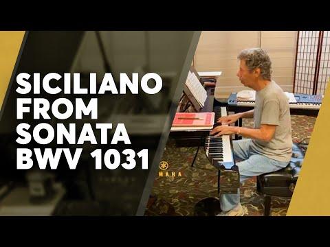 Chick plays Siciliano from Bach's Sonata in E-Flat Major