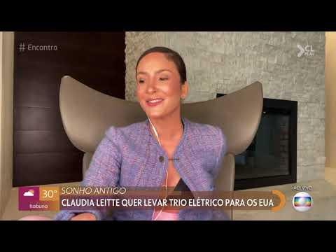 No Encontro, Claudia Leitte fala sobre levar o trio para os EUA