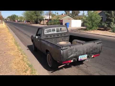1978 Datsun 620 peeling out