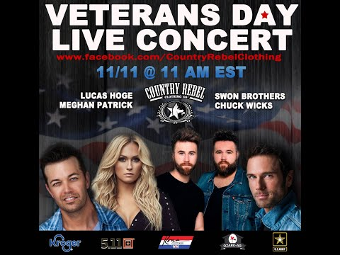 Veterans Day Concert featuring Lucas Hoge, Chuck Wicks, Meghan Patrick and The Swon Brothers