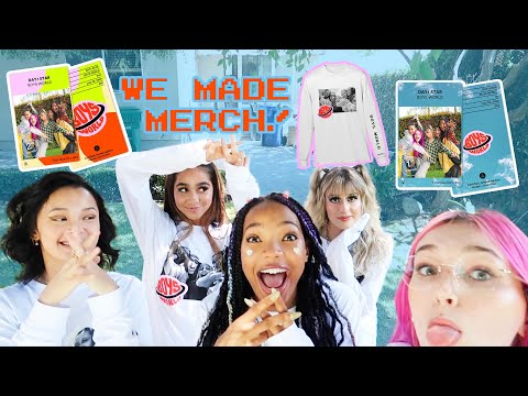 we made our first merch!!!