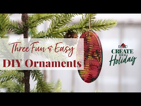Three Fun & Easy Ornament DIY Crafts