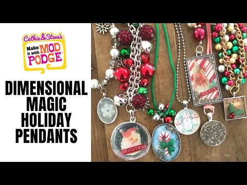 Holiday Pendants with Dimensional Magic