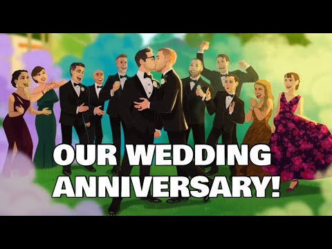 Our First Wedding Anniversary! - Chris and Clay