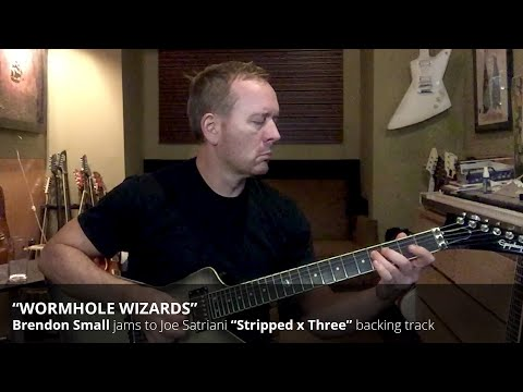 "Brendon Small jams to Joe Satriani's ""Wormhole Wizards"" (Stripped x Three)"