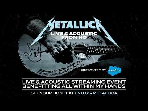 Metallica Helping Hands Concert & Auction: Live & Acoustic From HQ Second Set Preview