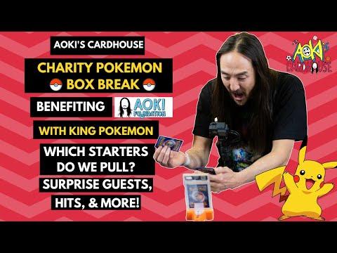 Celebrity Pokemon Charity Box Break | Aoki's Cardhouse | Benefiting Aoki Foundation
