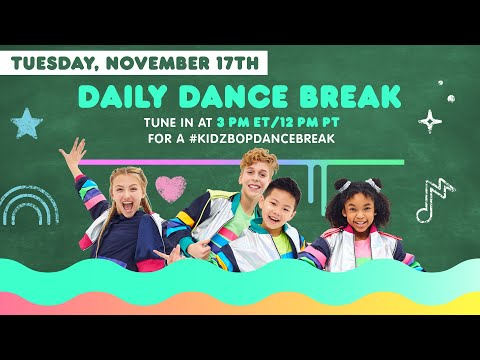 🔴 KIDZ BOP Daily Dance Break [Tuesday, November 17th]