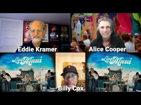 "Alice Cooper - Eddie Kramer And Billy Cox Discuss The ""Jimi Hendrix Experience Live in Maui"""