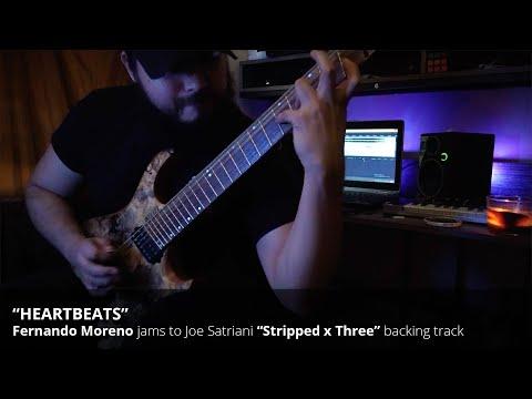 """Fernando Moreno jams to Joe Satriani's """"Heartbeat"""" (Stripped x Three)"""