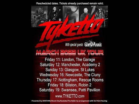 Tyketto U.K. Tour Update November 2020