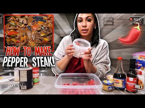 HOW TO MAKE PEPPER STEAK | I COOKED FOR ZOE