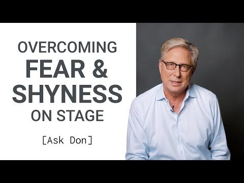 Overcoming Fear/Shyness as a Worship Leader | Ask Don