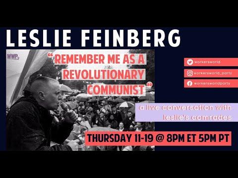 """Leslie Feinberg: """"Remember me as a revolutionary communist"""""""
