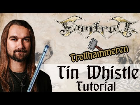 """How to play """"Trollhammeren"""" by Finntroll on Tin Whistle (+free sheet paper)"""