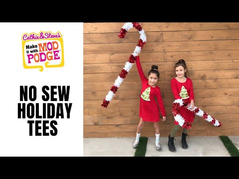 No Sew Holiday T-Shirts and Dresses