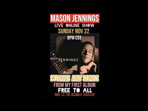 Mason Jennings Live Show - Stories and Songs from Debut Album