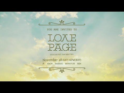 2020 NU'EST FAN MEETING 'L.O.Λ.E PAGE' - ONLINE Teaser