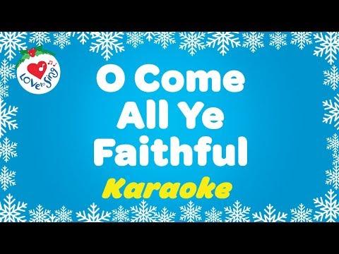 O Come All Ye Faithful Christmas Carol 🌟 Instrumental Karaoke Music with Lyrics 2020 🎄