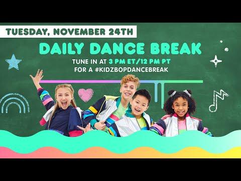 🔴 KIDZ BOP Daily Dance Break [Tuesday, November 24th]