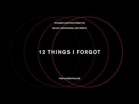 Steven Wilson - 12 THINGS I FORGOT (Official Audio)