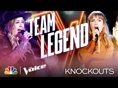 Teens Bailey Rae and Lauren Frihauf Leave Coach John with a Tough Decision - Voice Knockouts 2020