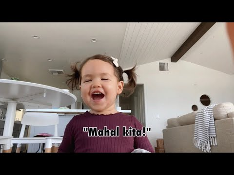 Xyla's first words in Tagalog!