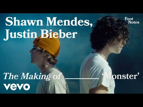 Shawn Mendes, Justin Bieber - The Making of 'Monster' | Vevo Footnotes