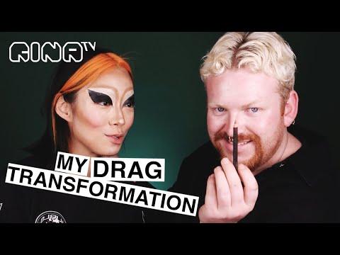 🧡NON BINARY DRAG QUEEN transformation + Q&A (confidence, gender, creativity) | RINA TV