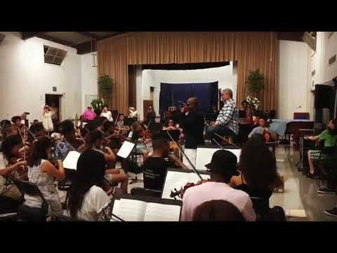 Rehearsals with the LA Youth Orchestra