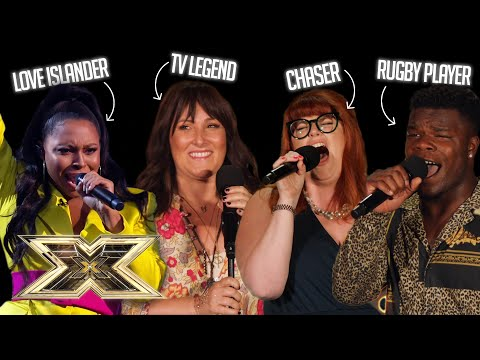 Famous CELEBS you never knew could SING!   The X Factor UK