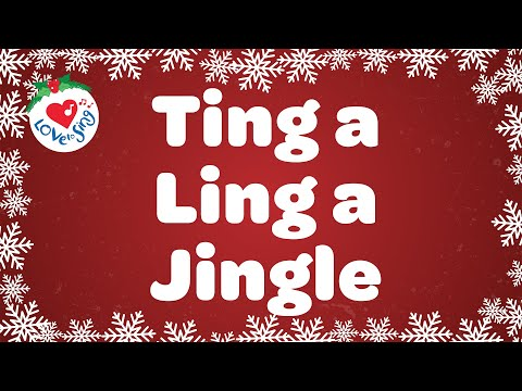 Ting a Ling a Jingle Christmas Song with Lyrics 🎅 Classic Old Christmas Songs 🎄 2020 🌟
