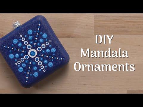 DIY Mandala Christmas Ornaments