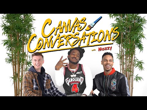 Mozzy Talks About His Pre-Show Rituals While Being Drawn | Canvas Conversations