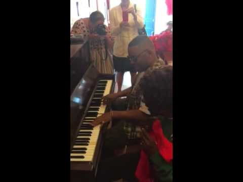 "Davell Crawford plays ""Tipitina"" at the Professor Longhair"
