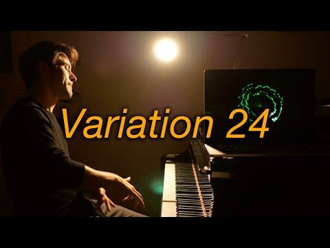 Goldberg Variations Var 24 #BachUpsideDown