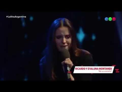 Ricardo Montaner y Evaluna Montaner Me Va A Extrañar La Voz Argentina 2018