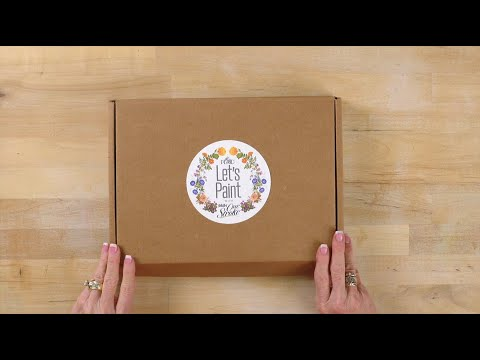 Let's Paint FolkArt One Stroke Home Town Unboxing with Donna Dewberry
