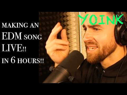 My BIGGEST challenge yet... Making an EDM song with a rap.. LIVE!!