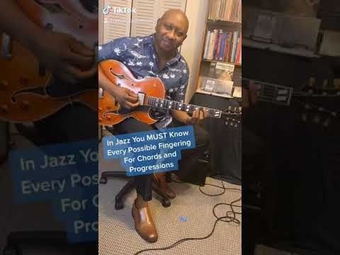 In Jazz you must know every possible fingering for Chords and Progressions.