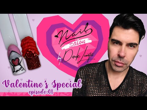 Valentine's Special Nail Art Episode 01 💕 Nail Salon by DerekLiontis 💘 Love Letter & Yes I do ❣