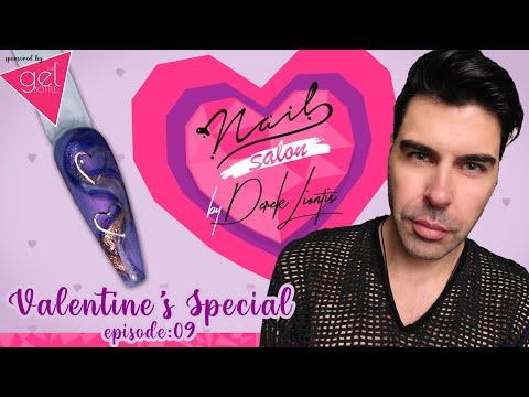 Valentine's Special Nail Art 💕 Nail Salon by Derek Liontis 💘 Love is in the Air ❣ E09