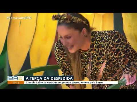 Claudia Leitte se emociona em último dia de folia em Salvador - Carnaval 2019